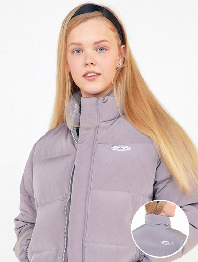 [EXCLUSIVE!] SHORT REVERSIBLE PUFFER DOWN [MAUVE]
