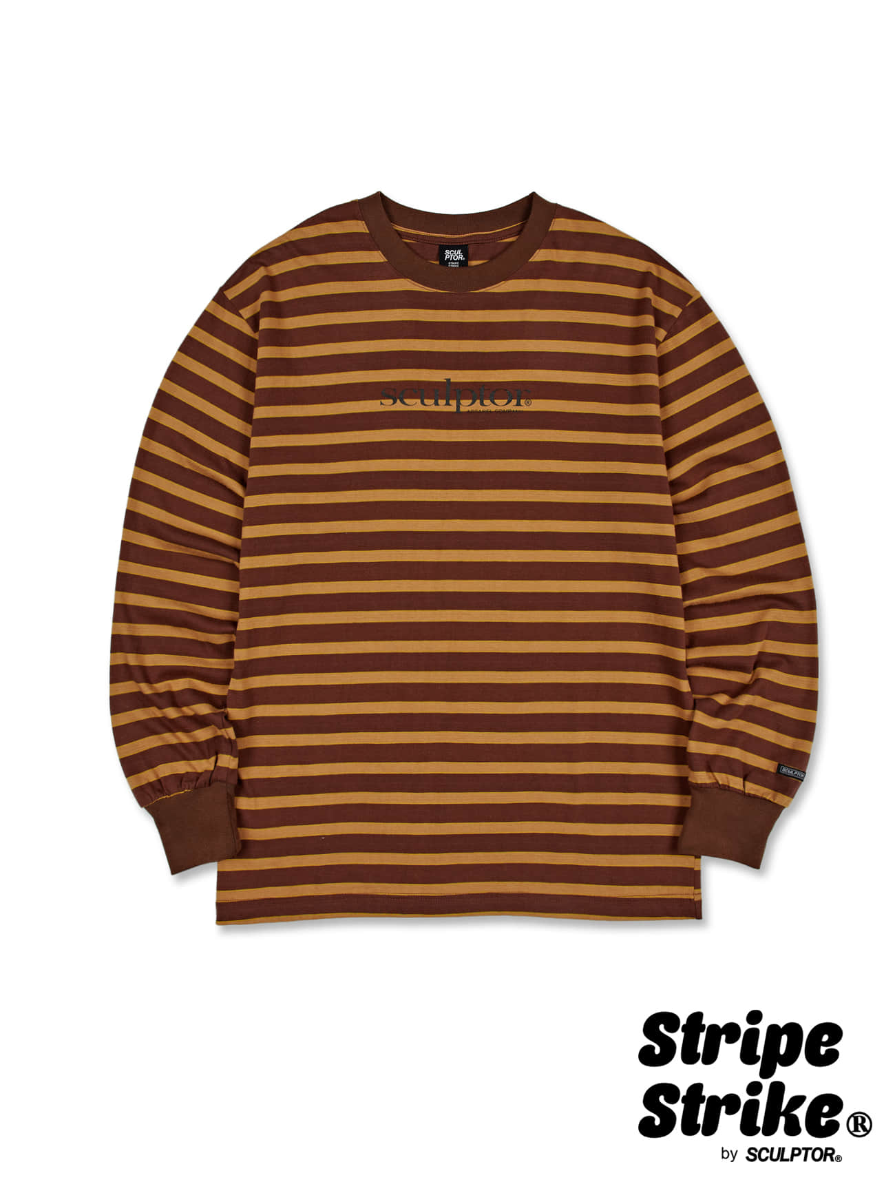 [SSS] S/P LS Tee [BROWN]