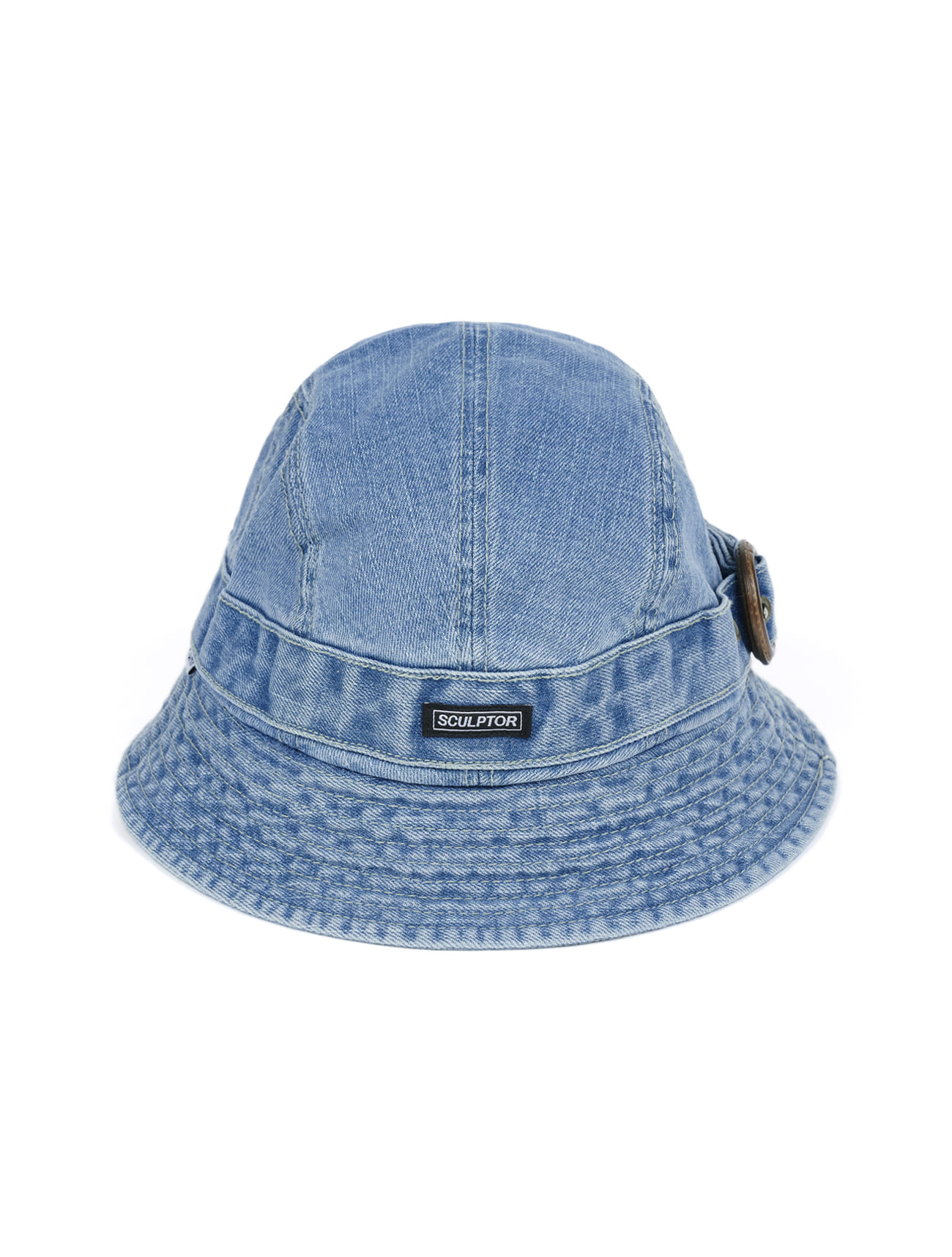 DENIM BUCKLE BUCKET HAT [LIGHT DENIM]