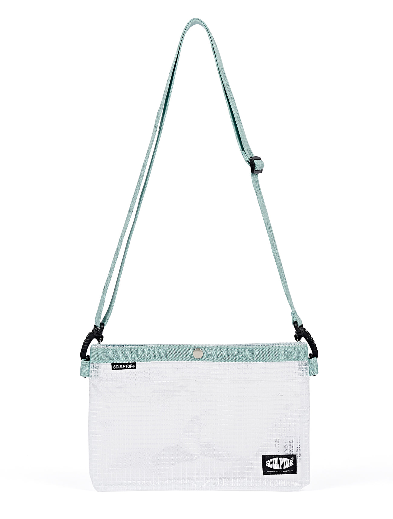 PVC Sacoche Bag [SAGE / CLEAR]